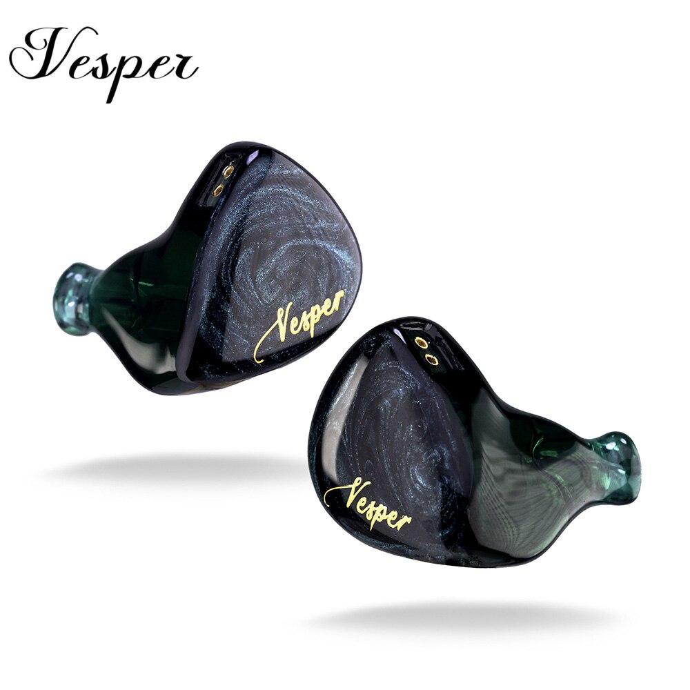 Original QOA Vesper 1BA+1DD In Ear Earphone Hybrid Driver Headset HIFI DJ Monitor Earphone Earbuds  QOA PINK LADY Kinera YH623